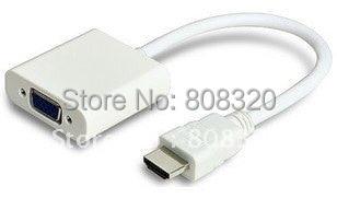 Freeshipping !!! 20pcs  HDMI Male to VGA RGB Female HDMI to VGA Video Converter adapter 1080P for PC