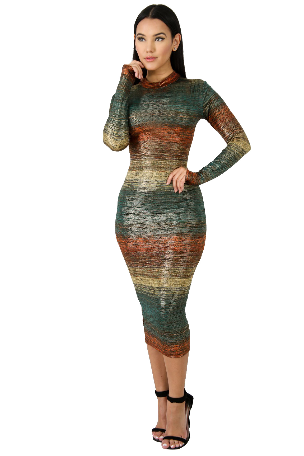 Detail Feedback Questions about Autumn Winter Bodycon Turtleneck Dress  Woman Long Sleeve Mid calf Long Dresses Silm Bandage Tight Dresses Daliy  Paryu ... 169f3fa71a57