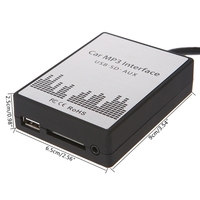 New USB SD AUX Car MP3 Music Radio Digital CD Changer Adapte For Renault 8pin Clio Avantime Master Modus Dayton Interface