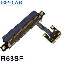 Mini PCIe Half MSATA mPCIe To PCIe 16x PCI E Riser x16 adapter Card elbow design Right Angle 8Gbps For mining bitcoin miner