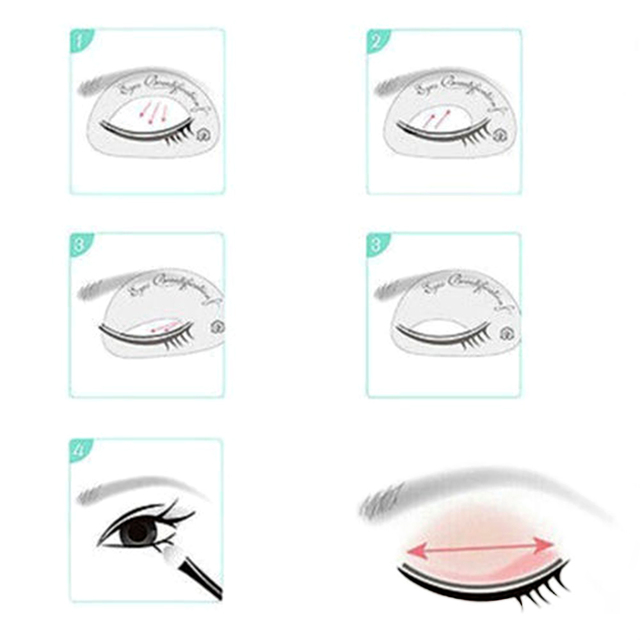 6 pcs /set Multifunction Eyeliner Stencils Cat Eye Stencils Eyeshadow stencils Eye Models Quick Makeup Auxiliary Tools dropship 2