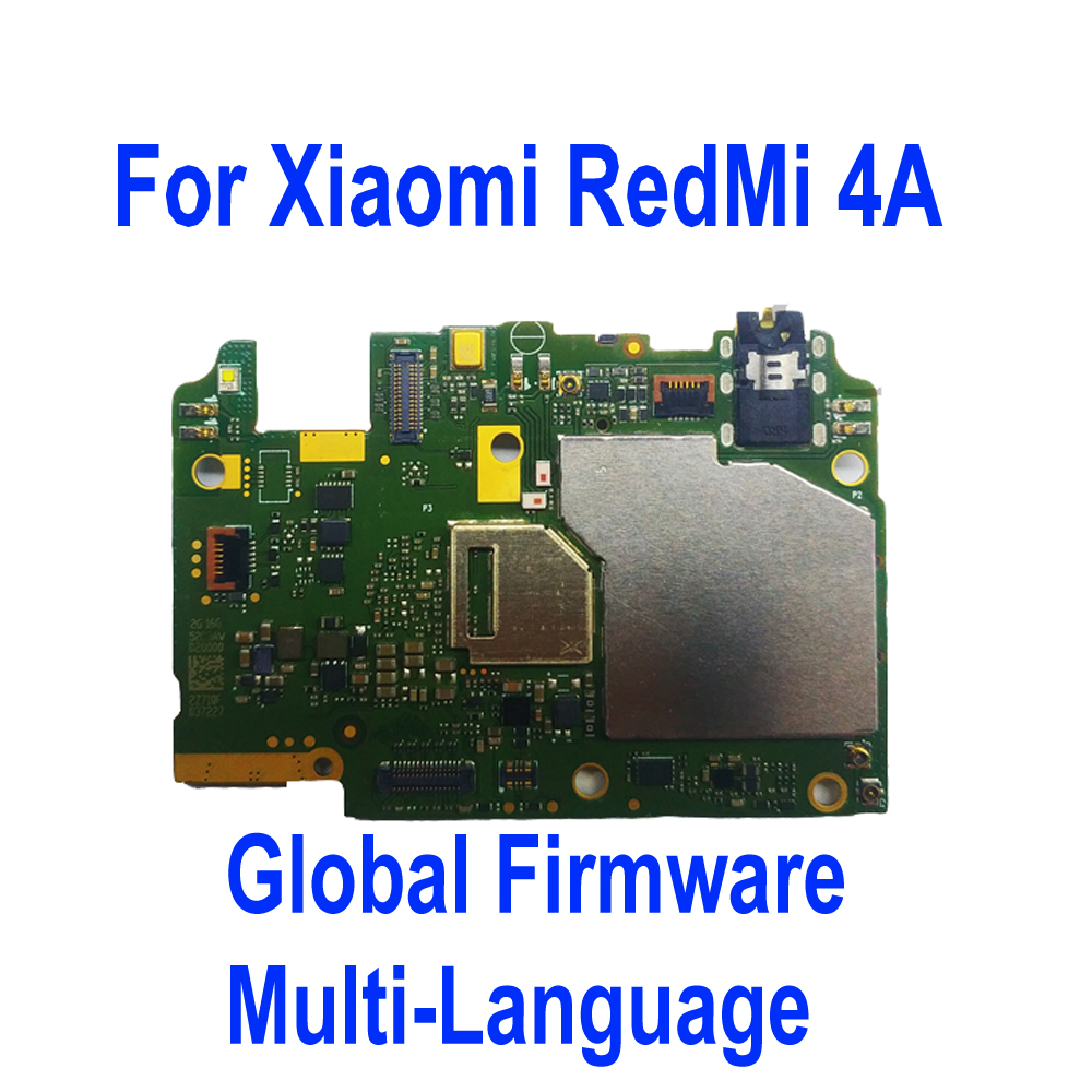 Global Firmware Original Tested Mainboard For Xiaomi Hongmi Redmi 4A 16GB Motherboard Card Fee Chipsets Circuit Flex Cable