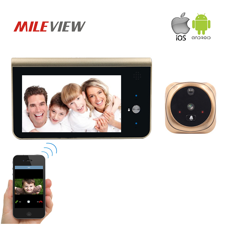 FREE SHIPPING Smart IP Wifi Peephole Video Doorbell 720P Security Camera Door Viewer Motion Detection Android IOS APP Control