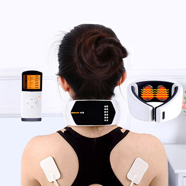 cervical spine massager meridian multi-function electric acupuncture on low frequency fields in electronic pulse rechargeable multifunctional meridian massage the whole body of household authentic cervical vertebra acupuncture pulse fields p