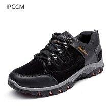 IPCCM 2018 весна и осень Новый Открытый Пеший Туризм Для мужчин обувь Молодежные Нескользящие Водонепроницаемый Low-cut Повседневное для мужчин обувь