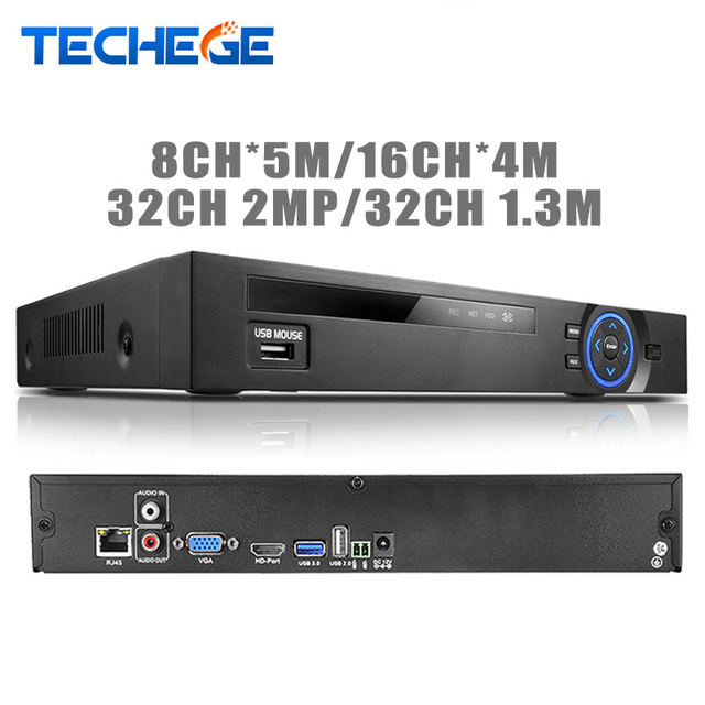 Full hd de 32 canais 1080 p nvr cctv 8ch * 5 m/16ch * 4 m/32ch 2mp/32ch 1.3 m onvif p2p cctv gravador de vídeo motion detection hdmi vga