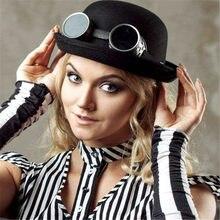 0949f2030f037 Steampunk femme rétro chapeau victorien industriel gentleman Lolita danse  fête casquette Halloween Cosplay accessoires pour enfants