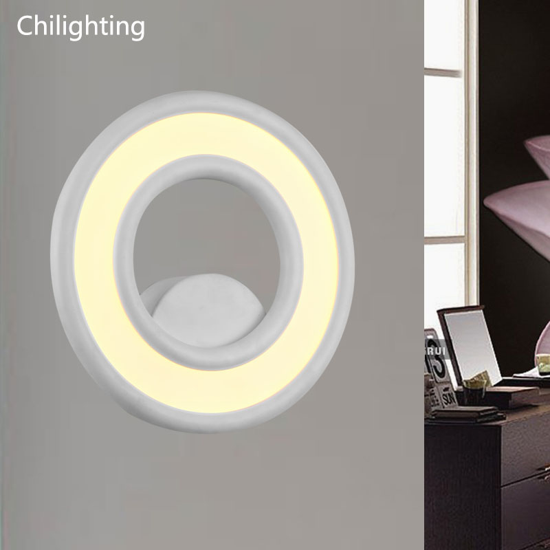 Simple modern LED Wall lamp sconce lamp foyer bedroom lighting decoration AC90-260V aluminum painted soft light 3 narrow beam indoor wall effect light led architectural facade lighting 3 emission led wall sconce ac90 260v input decoration