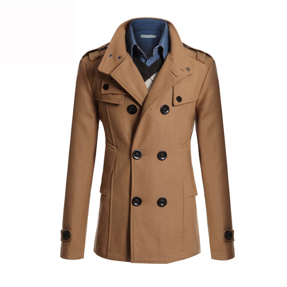 Men Outwear Gent 2018 New Winter Formal Turn-Down Collar Trench Coat Double Breasted Overcoat Pockets Size Plus Long Outwear