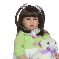 22Handmade 52cm reborn Silicone vinyl Lifelike toddler Baby Bonecas bb reborn premium real touch princess doll hot sale toys