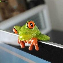 Смола ремесленных настольный компьютер периферийных украшения лягушка подарок Творческий животных статуя украшение, украшение дома