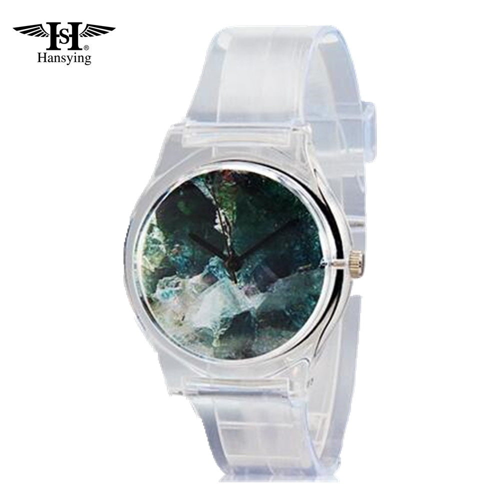 Hansying Unisex Zipper Transparent Landscape Design Analog Antika Klockor Quartz Watch.Wristwatches
