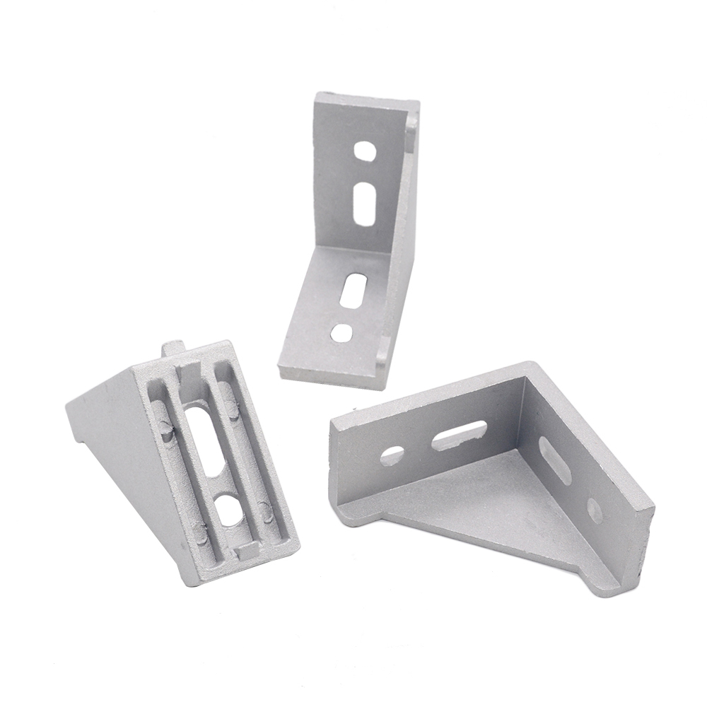 HOTSale 5pcs 3060 Corner Fitting Angle Aluminum L Type  Connector Bracket Fastener Match Use 3030 Industrial Aluminum Profile