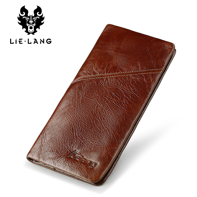 LIELANG Brand Men Wallets Genuine Leather Top Cowhide Leather Men's Long Wallet Clutch Wrist Bag Men Card Holder Coin Purse men wallets genuine leather top cowhide leather men s long wallet clutch wrist bag men card holder coin purse