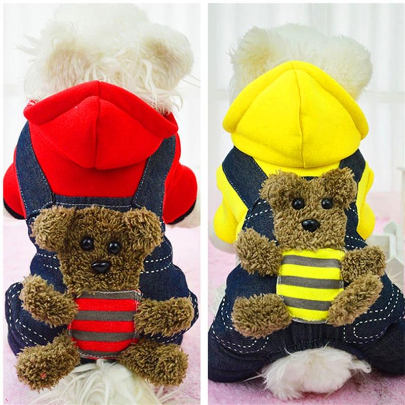 Divatos aranyos téli kutya ruhák vastagabbak négy láb medve bébi - Pet termékek