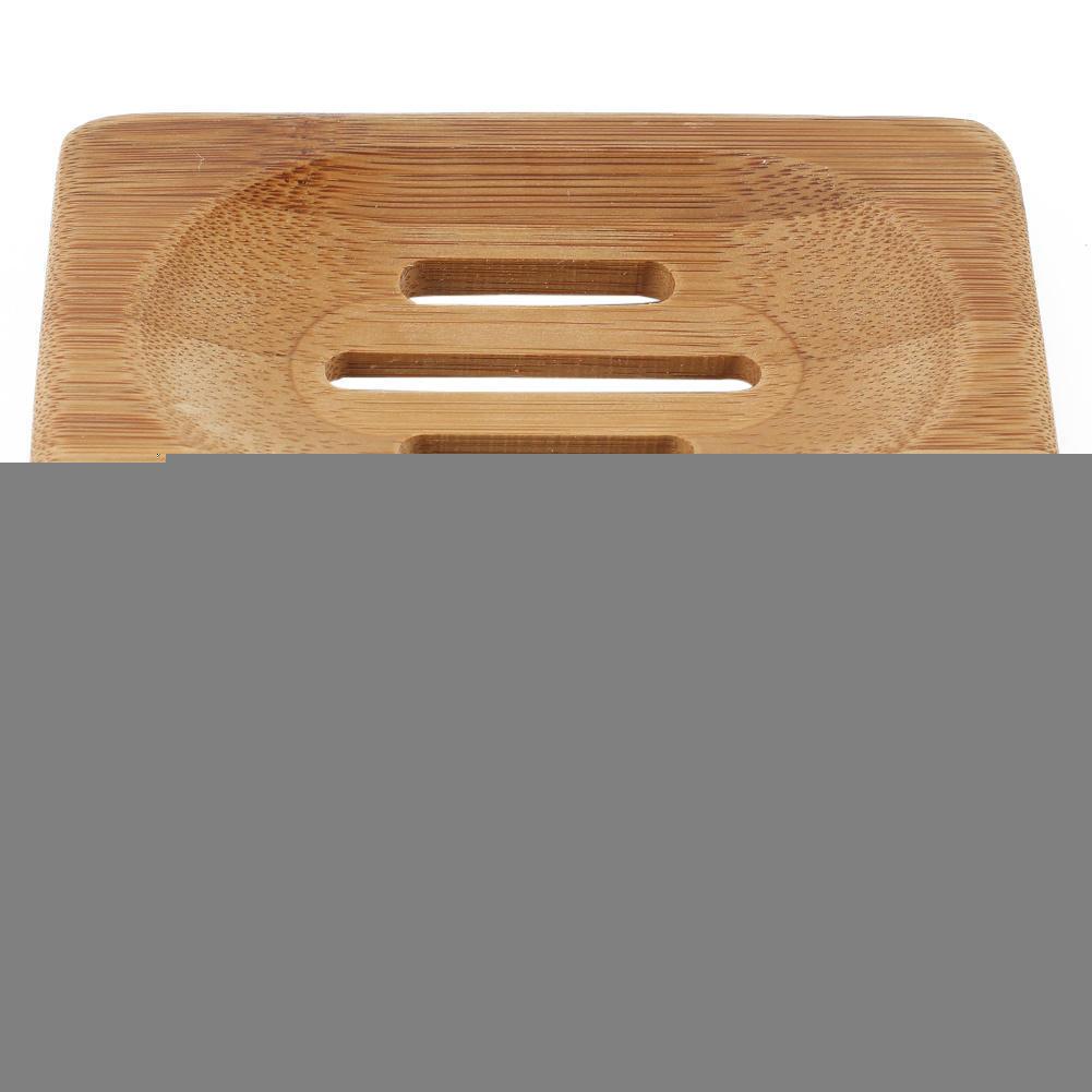 Soap Dish Tray Natural Wood Box Storage Container Rack Case Shower Bath  Holder Plate Bathroom Wash. White Wood Bath Rack
