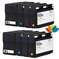 8 Картриджи для Совместимость hp 932xl/hp 933xl для HP OfficeJet 6100 6600 6700 7110 7510 7512 7610 7612 Принтер с чипом