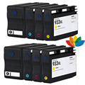 8 Ink Cartridges for Compatible hp 932xl / hp 933xl for HP OfficeJet 6100 6600 6700 7110 7510 7512 7610 7612 Printer with chip