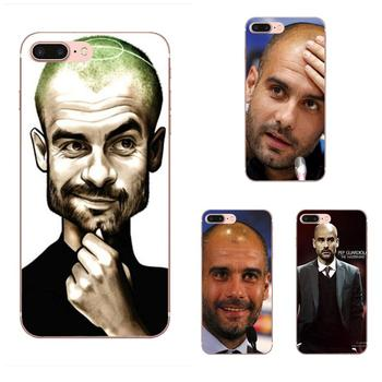 Soft TPU Mobile Phone Cases Soccer Coach Pep Guardiola For Apple iPhone 4 4S 5 5C 5S SE 6 6S 7 8 Plus X XS Max XR image