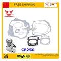 Двигатель прокладка zongshen 250cc CB250 с воздушным охлаждением полный комплект прокладок двигателя глушитель прокладка прокладка головки блока цилиндров велосипед грязи на квадроциклах часть
