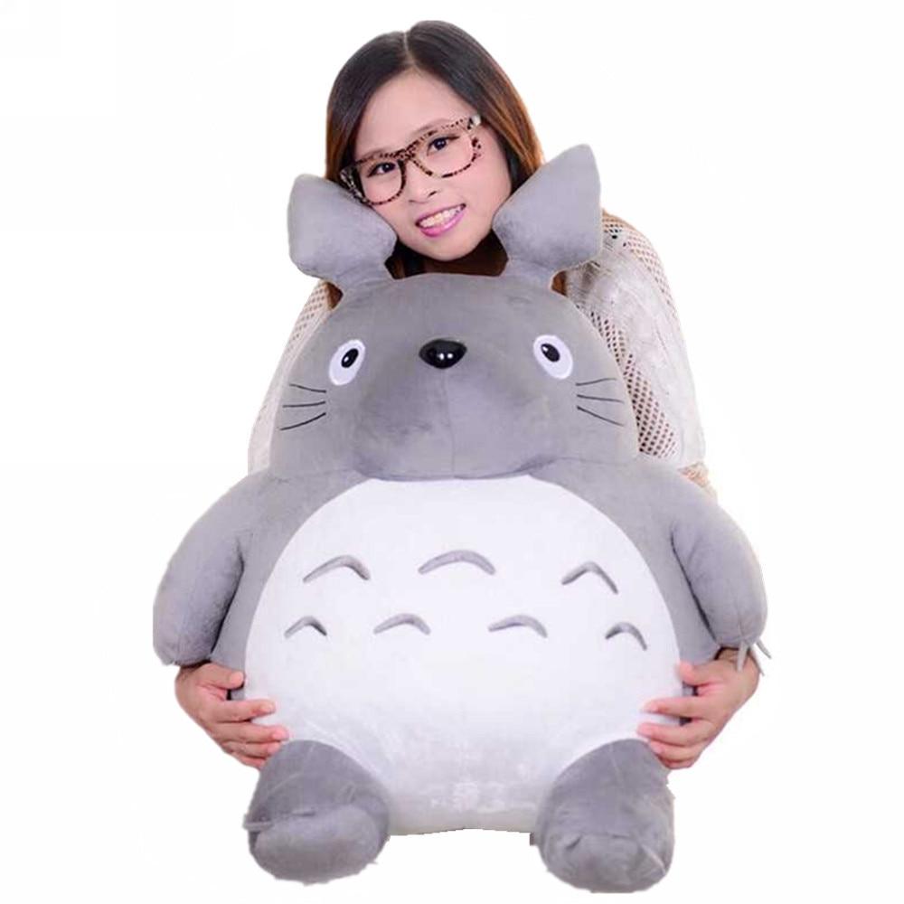 Fanttrader 25 ''Rare Item New Pop 귀여운 거대한 토토로 플러시 장난감 만화 토토로 고양이 그레이 Anime Doll 65cm 가장 좋은 선물 선택