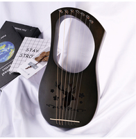 New ins Lyre 7 String Wooden Katoon Lyre Harp Metal Strings Mahogany Solid Wood String Instrument