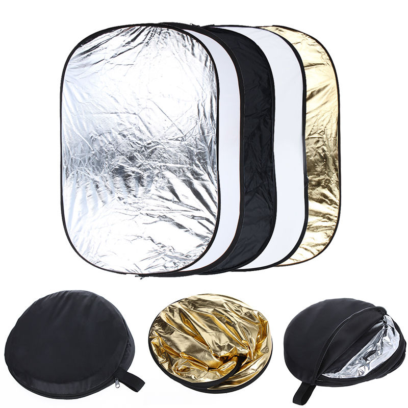 Free Collapsible 100cm*150cm 5 in 1 Photography background Reflector board photo studio Lighting Diffuser