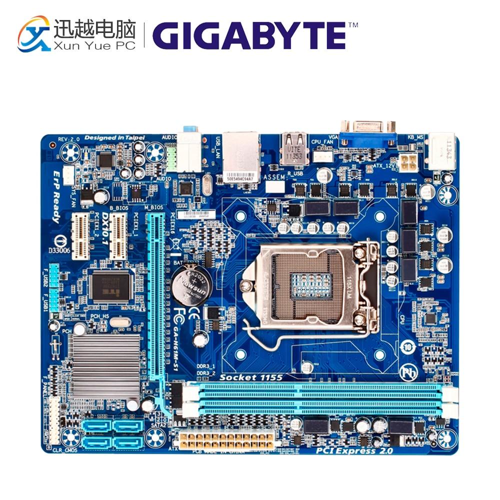 Gigabyte GA-H61M-S1 Desktop Motherboard H61M-S1 H61 LGA 1155 i3 i5 i7 DDR3 16G Micro-ATX