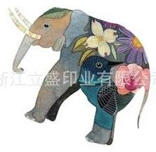 hot cat elefante pavao 3d adesivos tatuagem temporaria corpo impermeavel