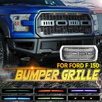 1Set Auto ABS Front Bumper Grille with App control LED Marker lamp Racing Grille for Ford F150 2015 2018