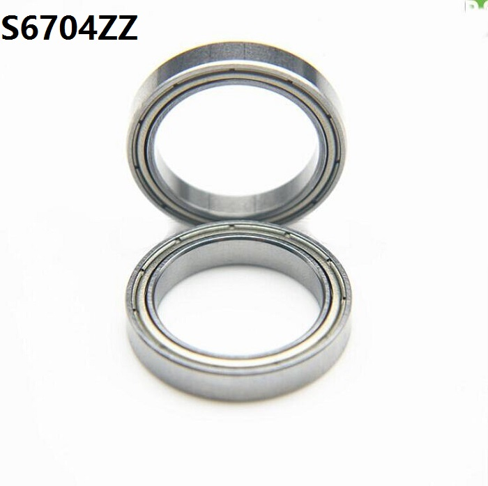 6pcs/lot S6704zz S6704 Zz Ball Bearing 20*27*4mm Double Shielded Stainless Steel Deep Groove Ball Bearing 20x27x4mm Relieving Rheumatism And Cold Home Improvement Window Rollers