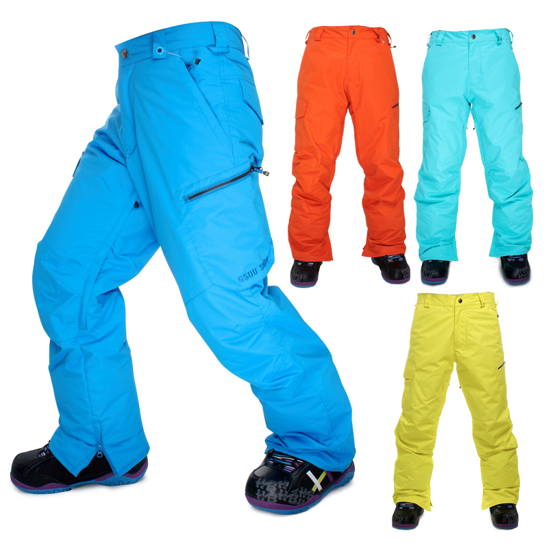 High Quality Gsousnow Men Skiing Pants Snowboard Pants Man Breathable Waterproof Windproof Top Quality Winter Warm Trousers 0818 caranfier winter men jeans classic gray blue trousers brand clothing 2017 new fashion casual trousers male quality pants 36 38