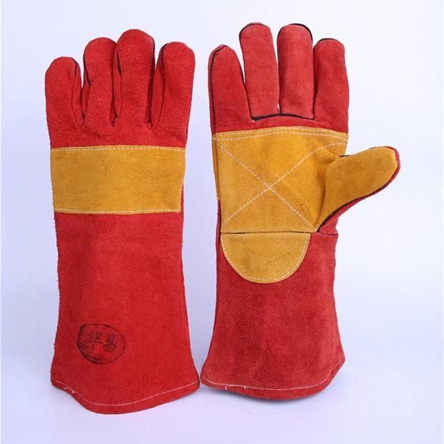 Долго Стиль Кожа Защитные Перчатки Производителей, Продающих Труда Сварочные Перчатки 1 Компл. Розничная Цена