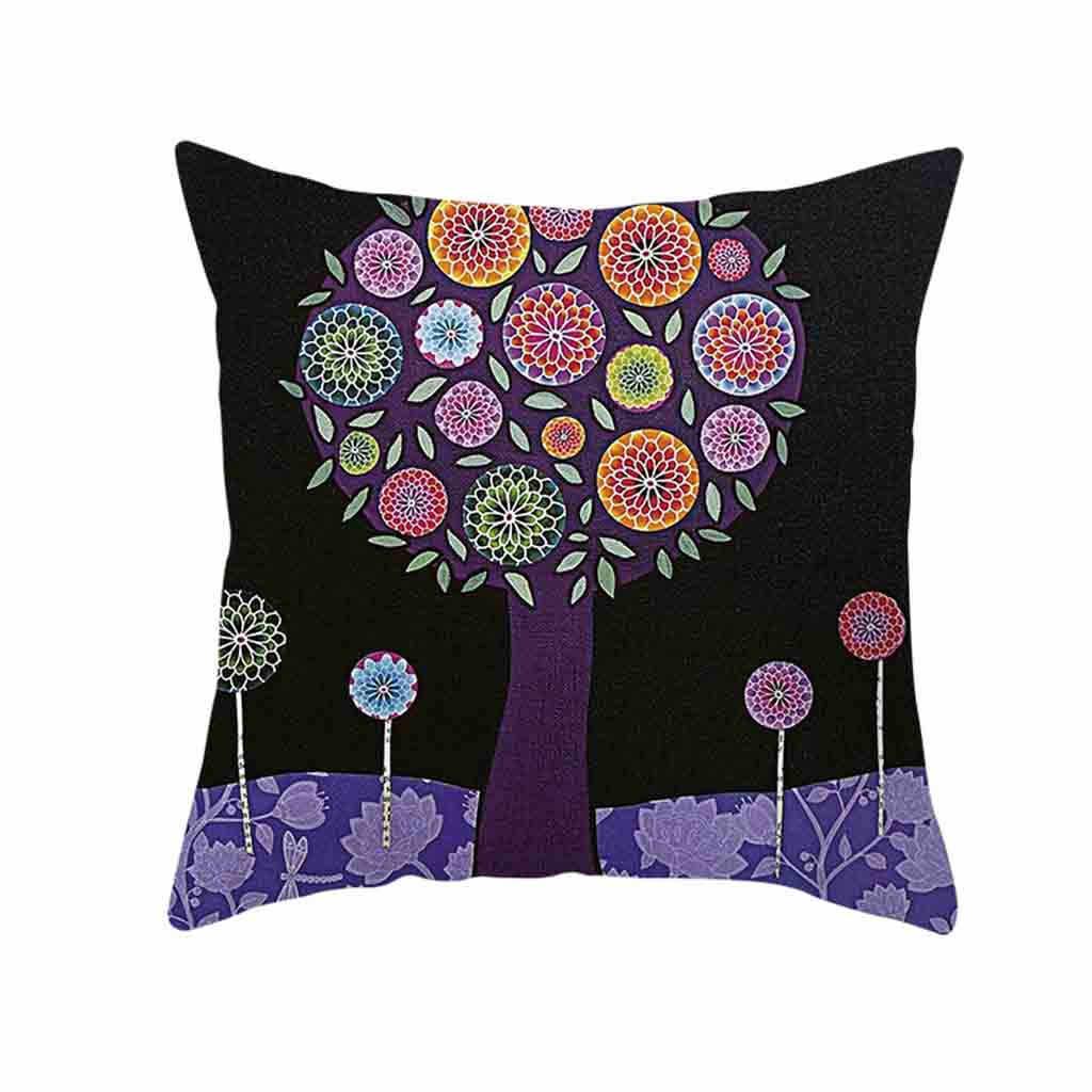 النمط الطبيعي الطباعة الصباغة أريكة سرير ديكور المنزل وسادة غطاء غطاء الوسادة