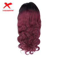 4x4 Lace Closure Wig Pre Plucked Brazilian Remy Body Wave Lace Front Wigs with Baby Hair Ombre Wig Human Hair 5 Color to Choose