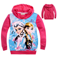 Elsa Anna Girls Hooded Kids Snow Queen Princess Outerwear Baby Blouson Hoodies Costume La Reine des neiges For 2 4 6 8 10 Years