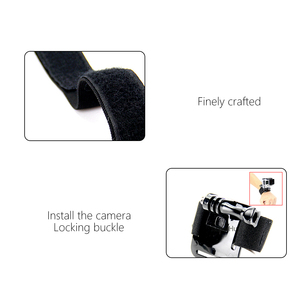 Image 5 - SnowHu for GoPro Hero 9 8 7 6 5 4 3 Accessories Black Elastic Adjustable Wrist Strap Mount for Go Pro Hero 8 SJ4000 GP93