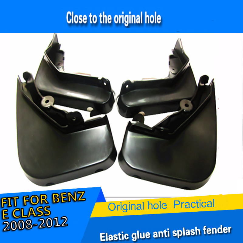 mud guards ABS plastic car accssories modified decoration mud flaps mud splash guards custom for Benz E classs 2008 2012|Mudguards| |  - title=