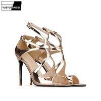 ed01adfa12 Gold Sandal Woman Venda on-line
