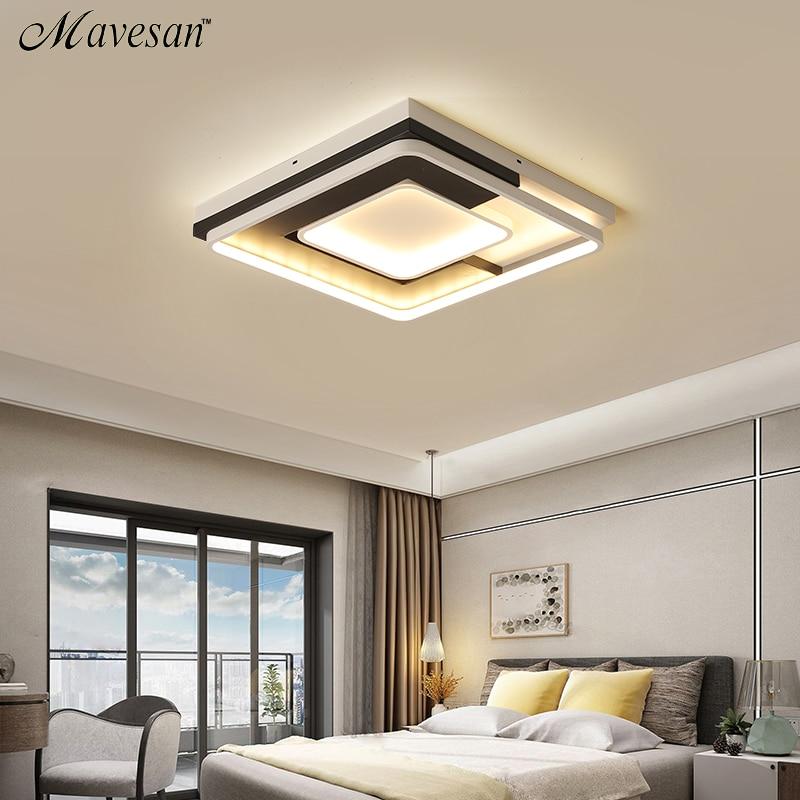 新しい現代の led シーリングライトリビングルームの寝室のランプ現代の led シーリングランプ調光ホーム照明ルミナリアス AC110V 220V  グループ上の ライト & 照明 からの シーリングライト の中 1