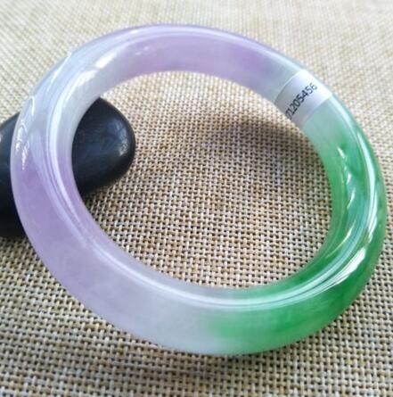 58-62mm Certified Grade A 100/% Natural Lavender Jadeite JADE Bracelet Bangle