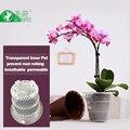 Сетка 4 дюйма  пластиковый прозрачный горшок с орхидеей с отверстиями  цветочный горшок плантатор для орхидеи контейнер для предотвращения ...