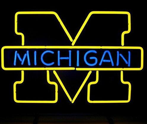 Michigan Glass Neon Light Sign Beer BarMichigan Glass Neon Light Sign Beer Bar
