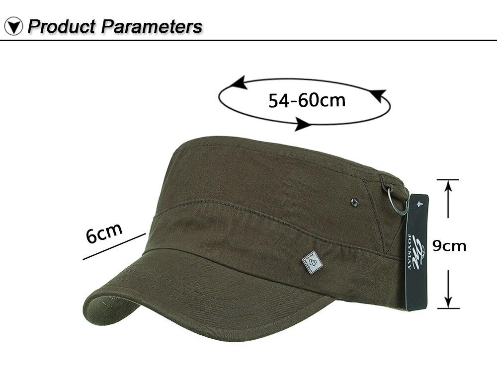 a38e1e763ab AKIZON New Arrival Spring Unisex Adjustable flat cap Military Hats ...