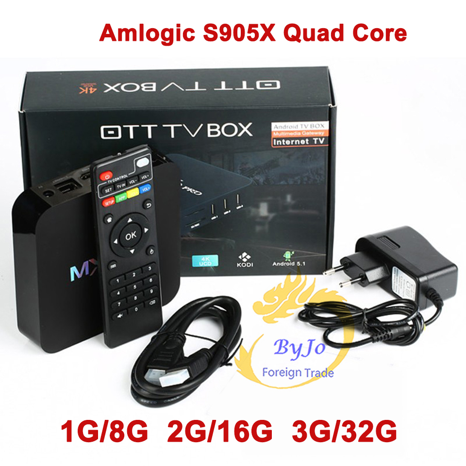 MX Pro 4K TV Box Amlogic S905X Quad Core 3G 32G Android Ultra 4K Streaming KODI 18.0 fully Load KODI box Tv box MXQ Pro mecool hm8 amlogic s905x kodi 4k tv box rii i8 black