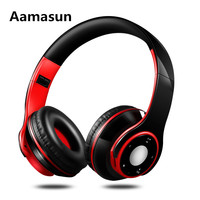 Headphone Colorful Stereo Audio Mp3 Bluetooth Headset Wireless Headphones Earphone Support SD Card With Mic Play