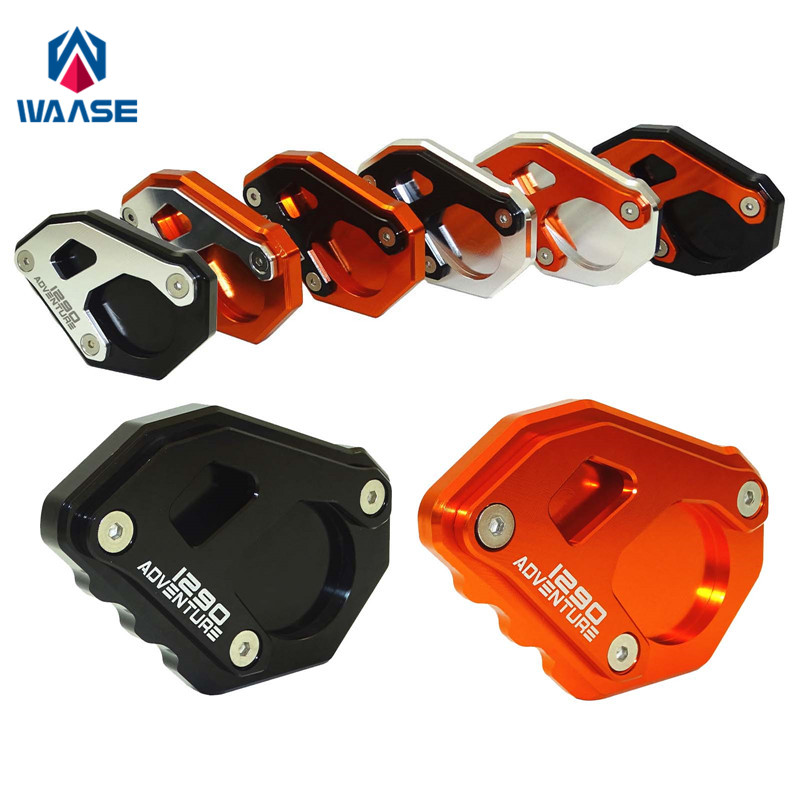 waase Motorcycle For KTM 1290 Super ADV Kickstand Foot Side Stand Extension Pad For KTM 1290 Super Adventure R цена