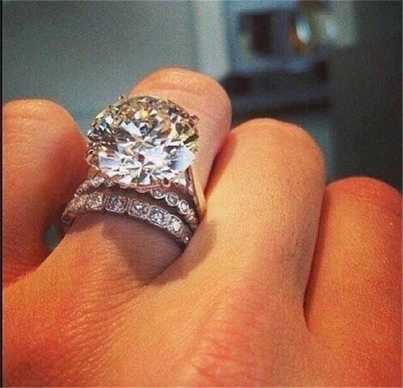 Набор обручальных колец с двумя рядами AAA кубического циркония для женщин, обручальные кольца с фианитами и кристаллами bijoux femme anillos mujer anel, ювелирные изделия