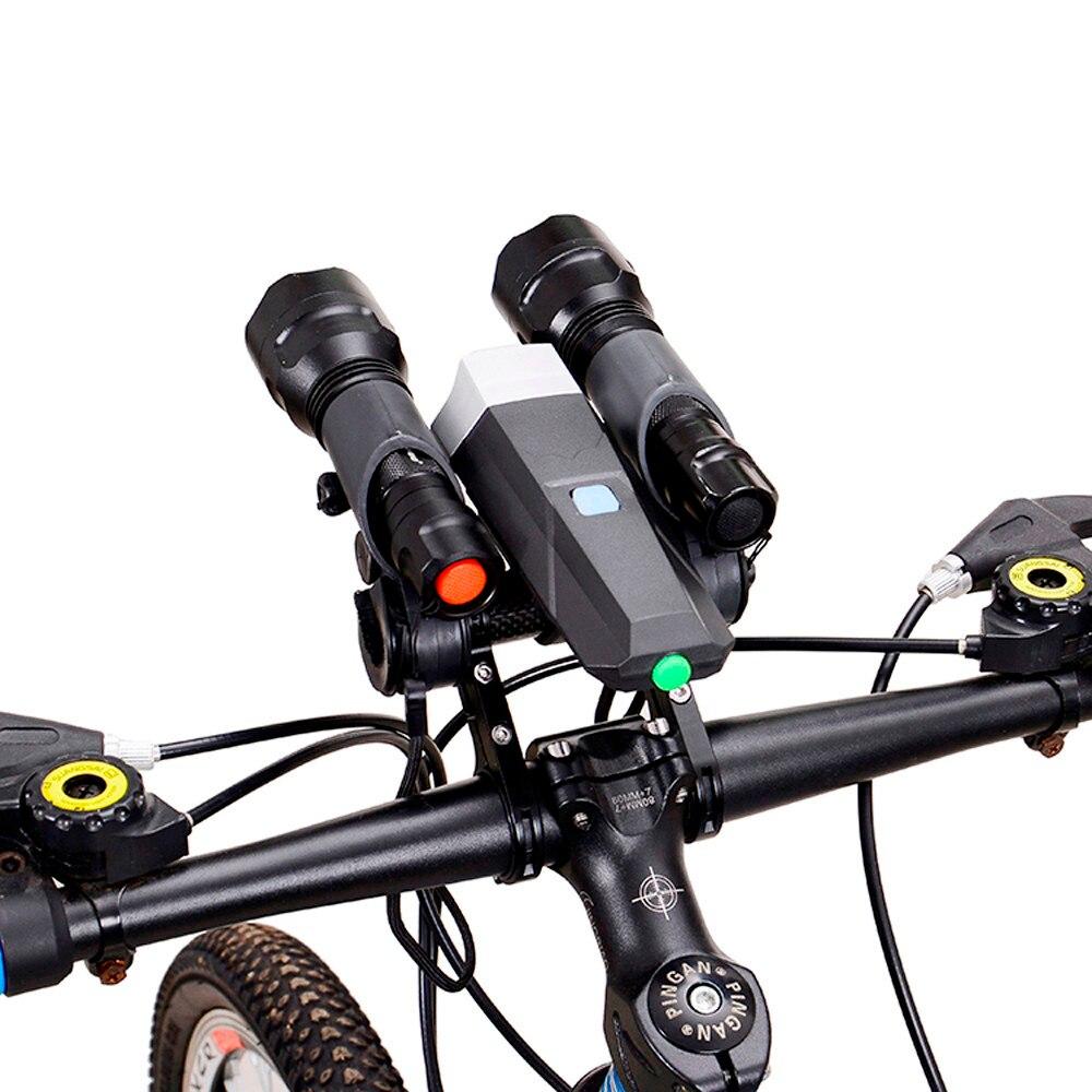 Bike Flashlight Holder Handlebar Bicycle Accessories Extender Mount Bracket