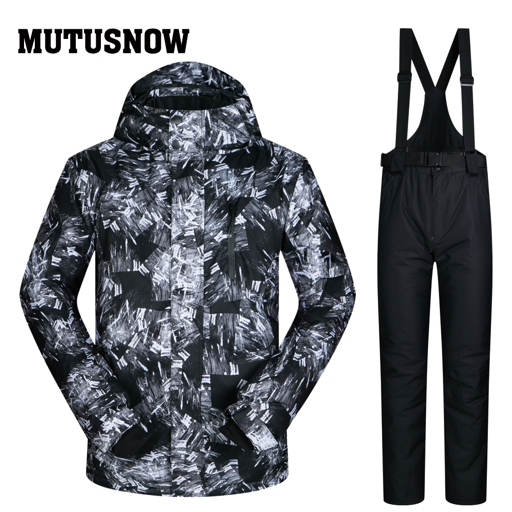 Ski Suit Men Brands 2018 New Snow Windproof Waterproof Breathable Male Teenagers And Pants Snowboard Winter Ski Winter Jackets 2018 new lover men and women windproof waterproof thermal male snow pants sets skiing and snowboarding ski suit men jackets
